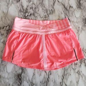 Lululemon Run: Pace Skirt Skort Orange Coral sz. 6
